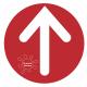 Flèche directionnelle en adhésif de sol BIKOM Signalétique gestes barrières