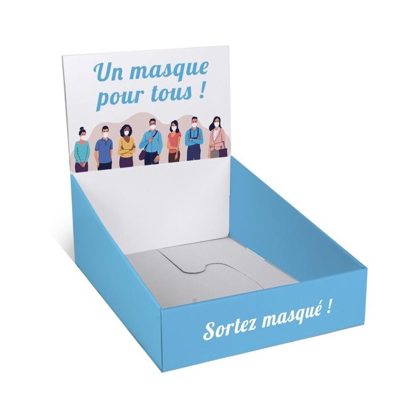 gestes_barrieres_Présentoir pour masque 230 x 300 mm