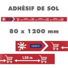 Bande de sol adhésive, balisage distanciation