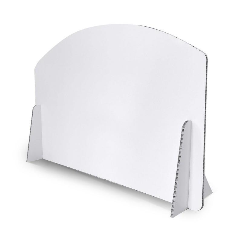 Séparateur de bureau en carton BIKOM Signalétique gestes barrières