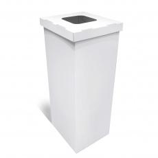 Poubelle en carton blanc 60/70L