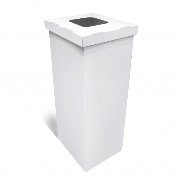 Poubelle en carton blanc 60/70L BIKOM Poubelle et corbeille en carton