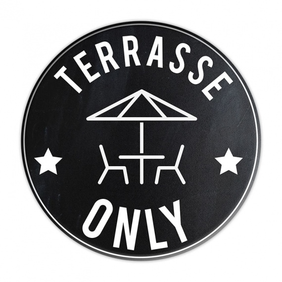 Sticker Terrasse bar et restaurant BIKOM Signalétique gestes barrières