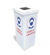 Poubelle à masque en carton école BIKOM Poubelle et corbeille en carton