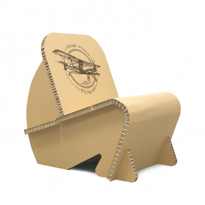 Fauteuil en carton design BIKOM Meuble en carton
