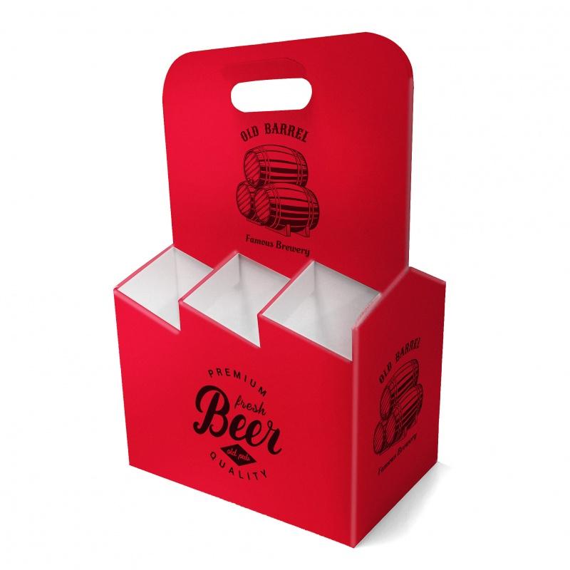 Porte bouteille en carton BIKOM Porte bouteille et lunch box