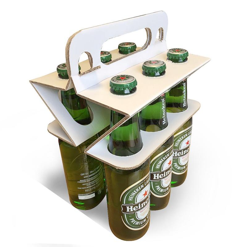 Porte bouteille en carton éco  Porte bouteille et lunch box