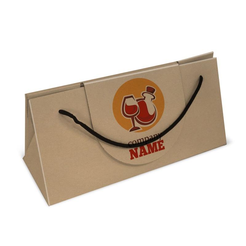 Sac porte bouteille en carton BIKOM Porte bouteille et lunch box