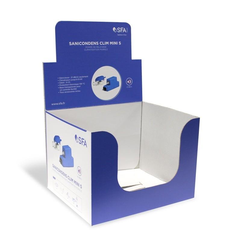 PLV de comptoir 28 x 23 x 20 cm BIKOM Présentoirs en carton