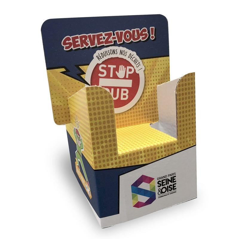 fabricant_plv_Mini porte flyer en carton