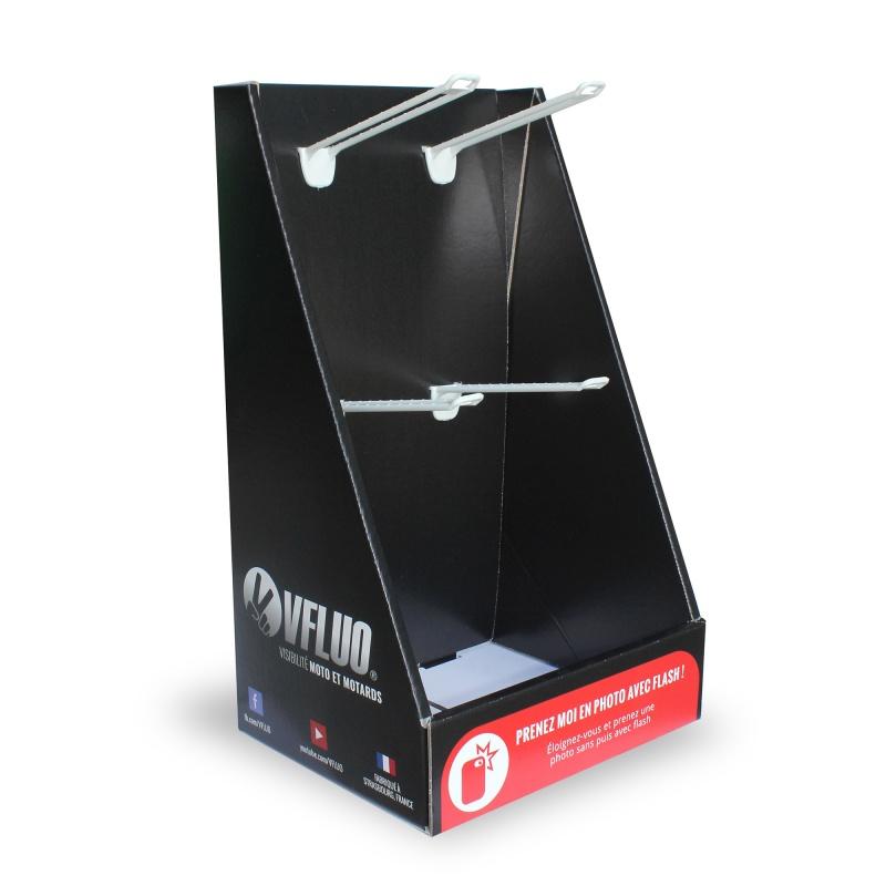 PLV de comptoir à 4 broches BIKOM Présentoirs en carton