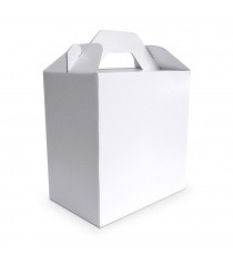 lunch box en carton blanc