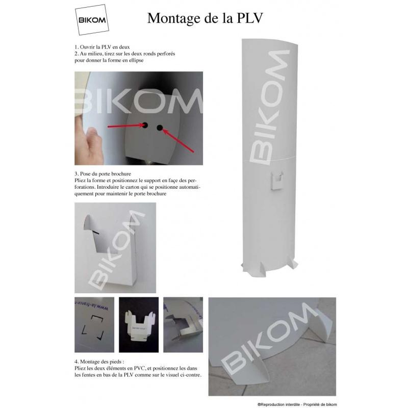 Totem en carton 180 x 60 cm BIKOM Totem carton elliptique