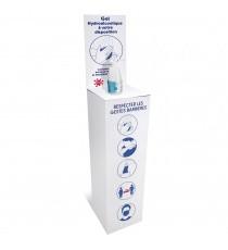 Support en carton pour gel hydroalcoolique