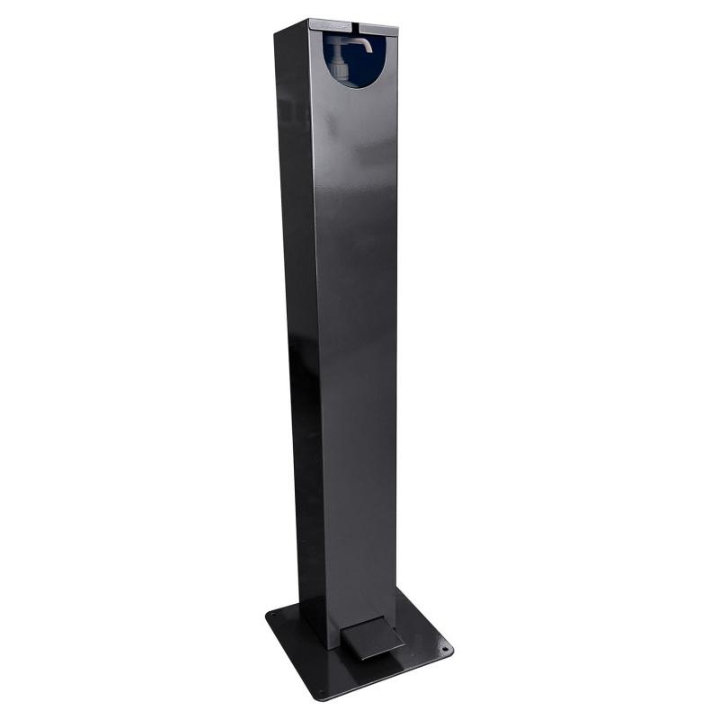 gestes_barrieres_Distributeur gel hydroalcoolique extérieur en métal sur pied