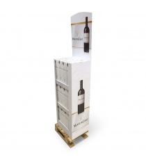 Box palette pour bouteilles
