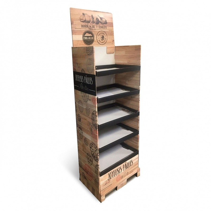 Présentoir box palette intégrée BIKOM Box palette