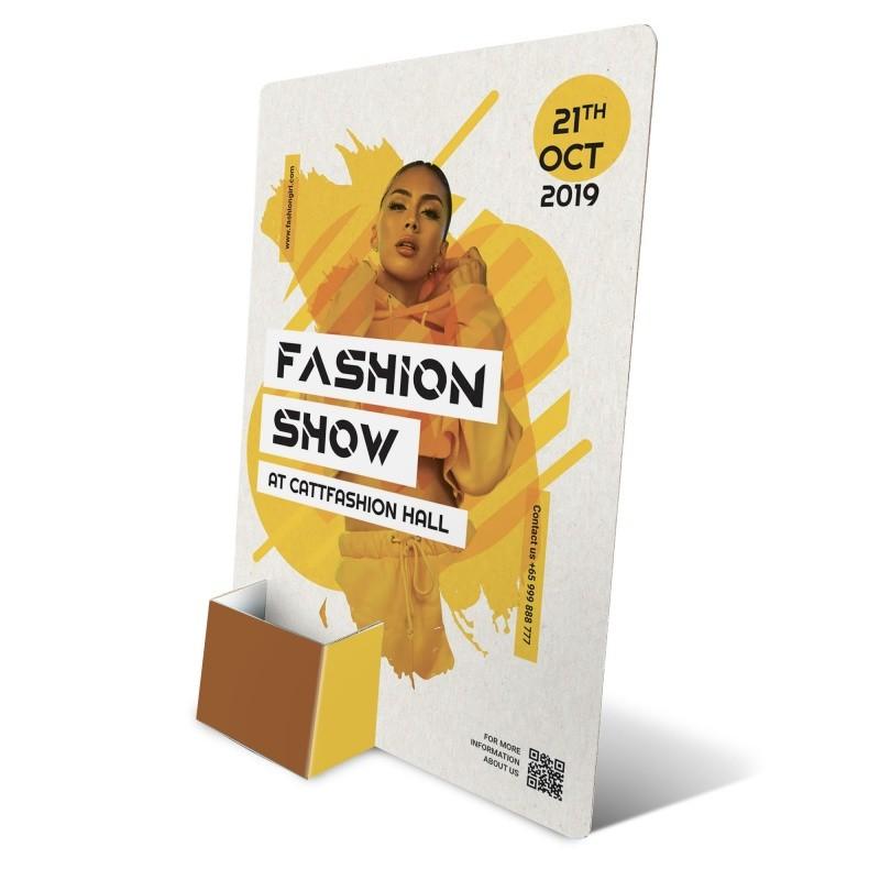 fabricant_plv_Présentoir flyer en carton 10 x 21 cm