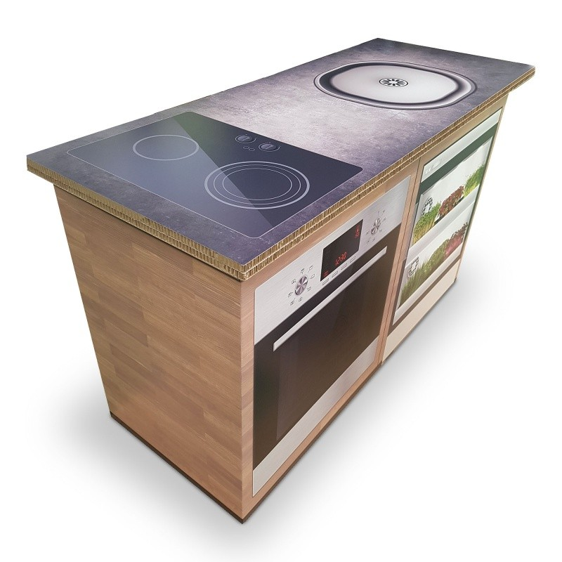 Meuble de cuisine en carton BIKOM Aménagement