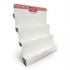 Présentoir carton escalier