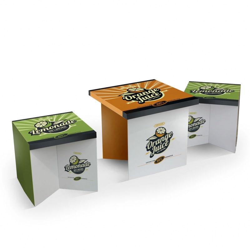 mobilier-en-carton-Kit mobilier carton table + tabouret
