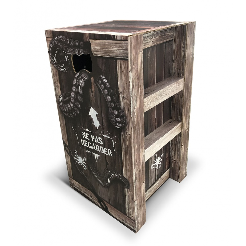 Stand animation vente magasin BIKOM PLV tête de gondole