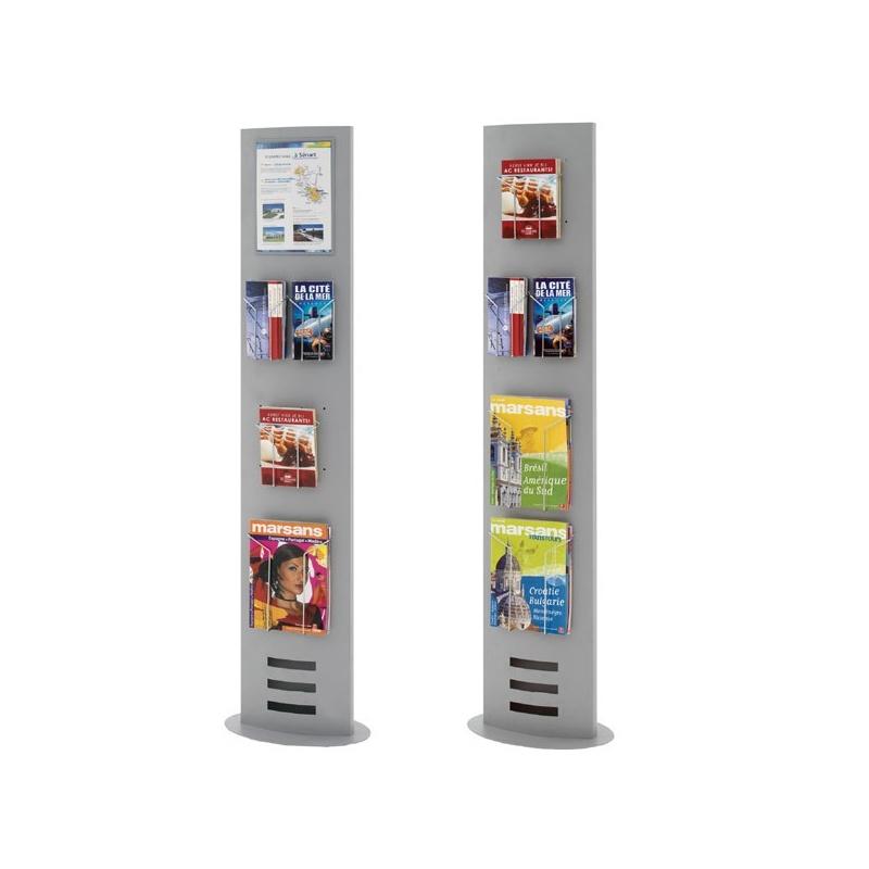 Totem Expo Multifonctions BIKOM Présentoir en métal ou plexiglass