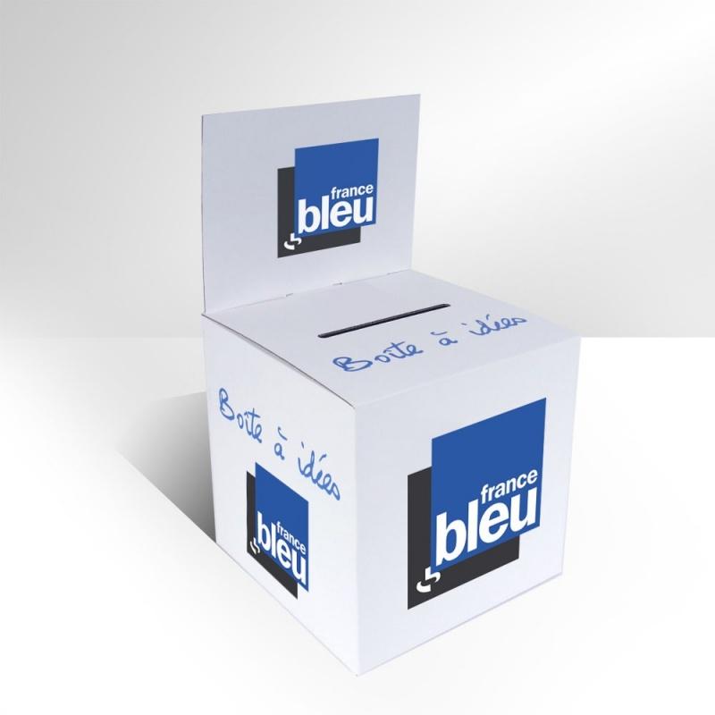 Urne en carton avec fronton amovible 25 x 25 x 25 cm BIKOM Urnes en carton