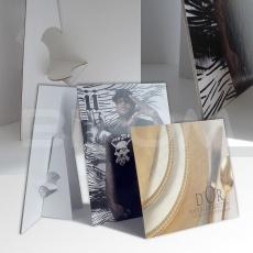PLV carton porte catalogue de comptoir
