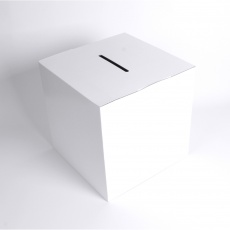 BIKOM Urne en carton blanche 28 x 28 x 28 cm