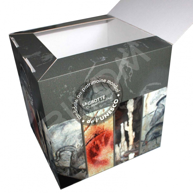 Urne en carton imprimée 28 x 28 x 28 cm BIKOM Urnes en carton