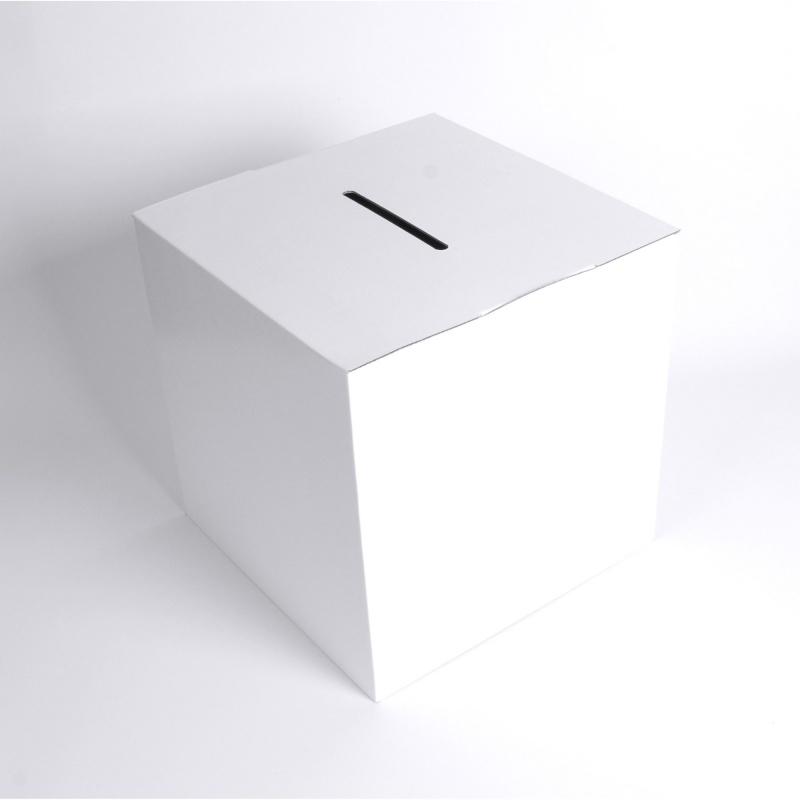 BIKOM Urne carton blanche 20 x 20 x 20 cm