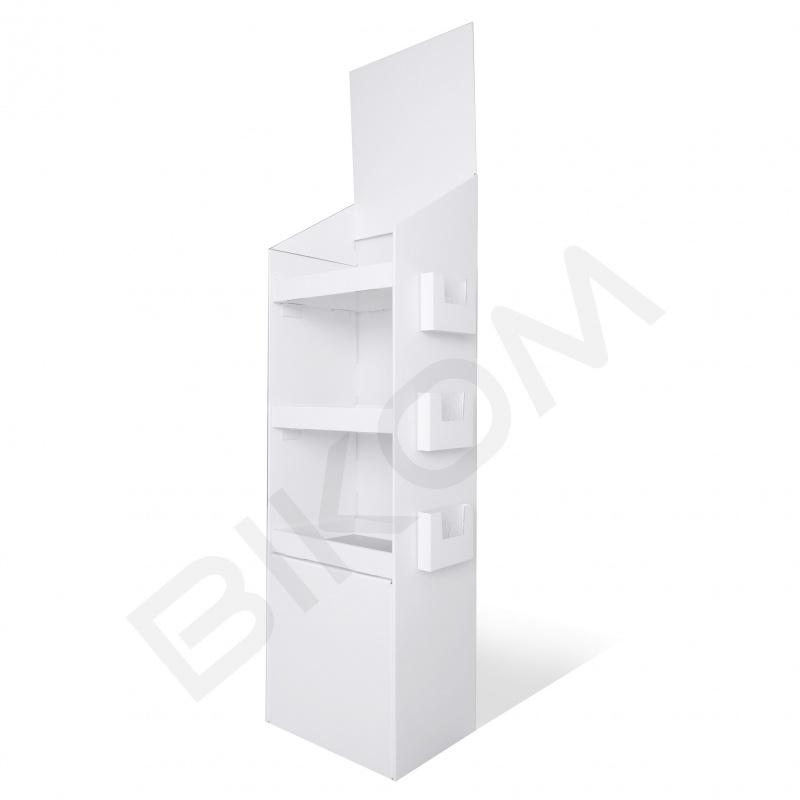 presentoir-masque-Meuble produits en carton personnalisable