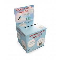 Urne en carton format 15cm de côté BIKOM Urnes en carton personnalisables et sur mesure