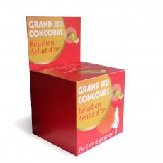 Urne en carton avec fronton amovible 20 x 20 x 20 cm