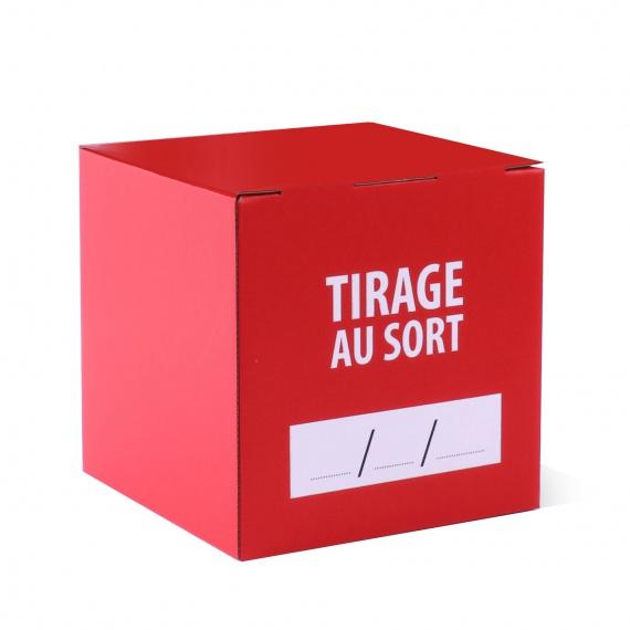 BIKOM Urne en carton imprimée 30 x 30 x 30 cm