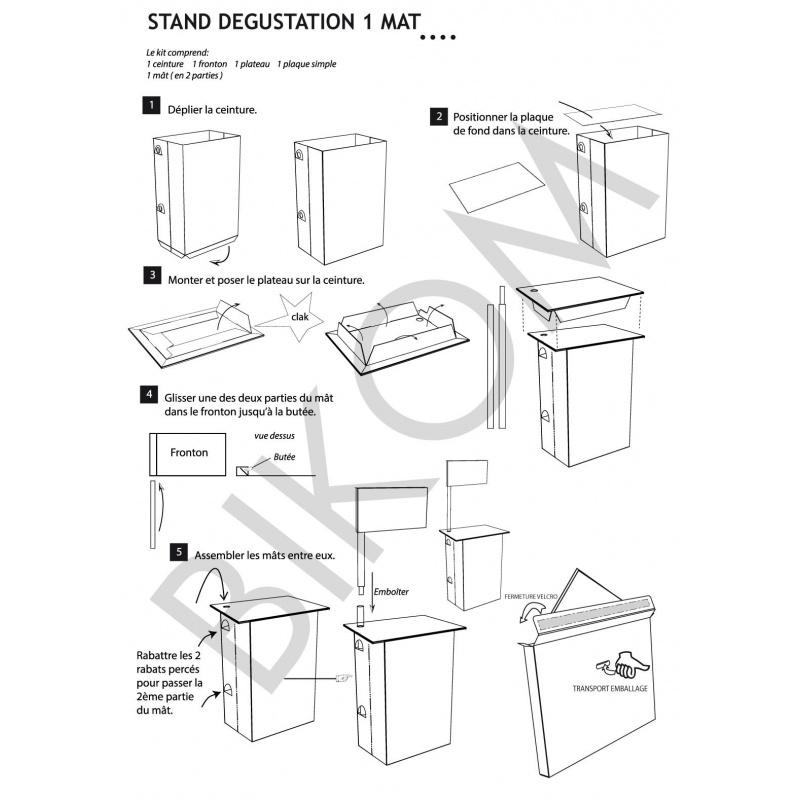 Stand en carton stand d gustation l ger et facile trnporter for Mobilier salon professionnel