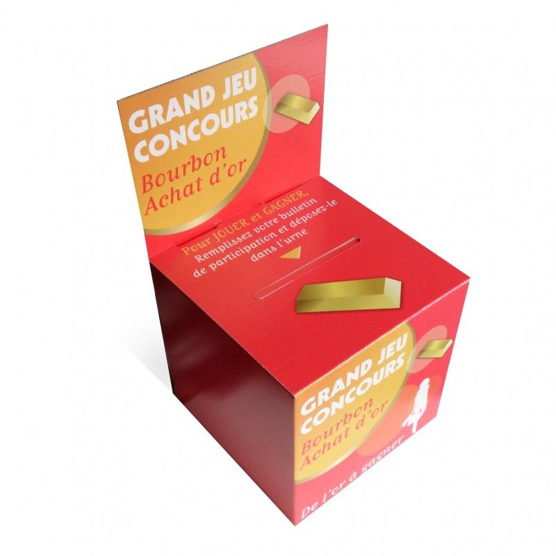 Urne en carton 15 x 15 x 15 cm sur carte BIKOM Urnes en carton