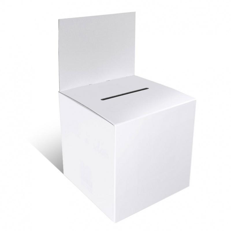 BIKOM Urne en carton 15 x 15 cm blanche