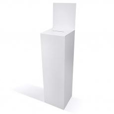 Urne carton haute blanche 90x30x30 + fronton
