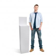 BIKOM Urne carton haute blanche 90x30x30 + fronton