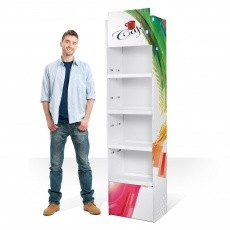 Box étagère en carton, produit sur-mesure BIKOM PLV Display en carton