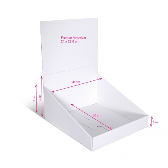 Présentoir en carton 280 x 300 mm BIKOM Présentoirs en carton