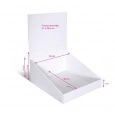 Présentoir de comptoir en carton imprimé