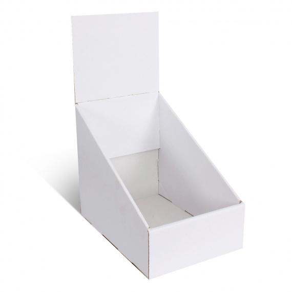 Présentoir en carton blanc