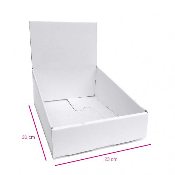 Présentoir en carton blanc 23 x 30 cm