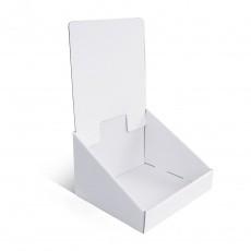 Présentoir en carton blanc sans impression, 155 x 135 mm x 250 mm