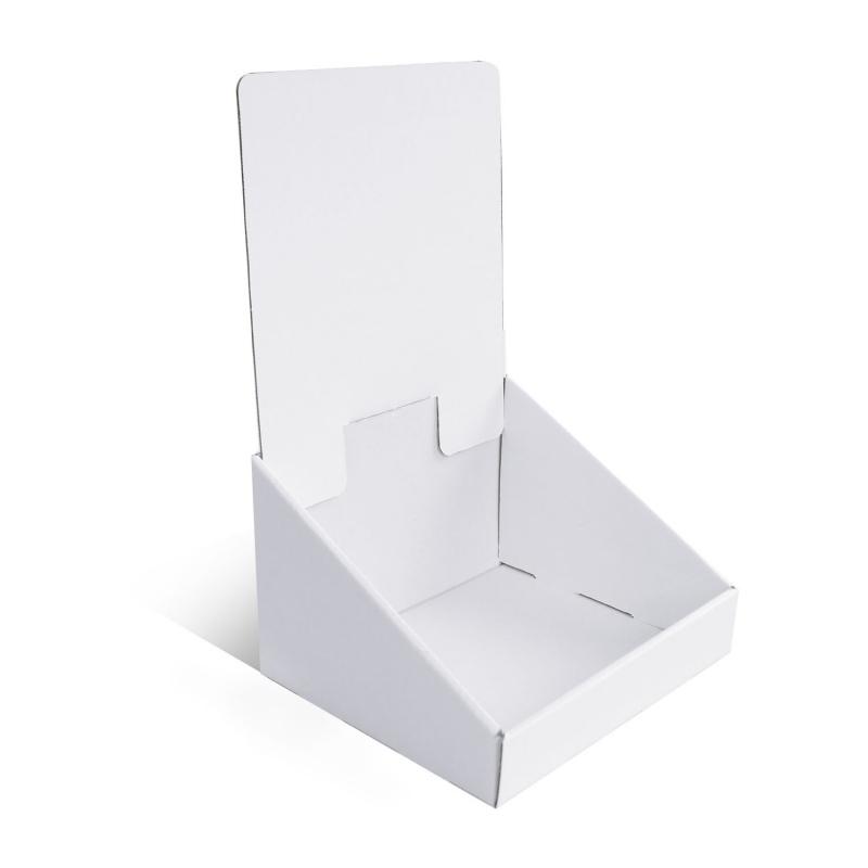 Présentoir en carton blanc personnalisable, 155 x 135 mm x 250 mm BIKOM Présentoirs en carton