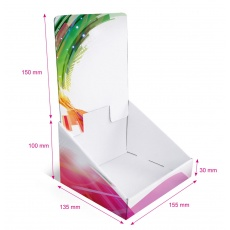 Présentoir en carton blanc personnalisable, 155 x 135 mm x 250 mm