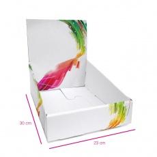 PLV de comptoir en carton 230x310x280 mm BIKOM Présentoirs en carton